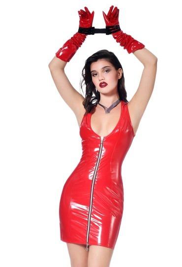 Lack Kleid Roxy rot - Patrice Catanzaro