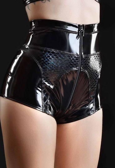 Lack Shorts PATRICIA mit Hologramm